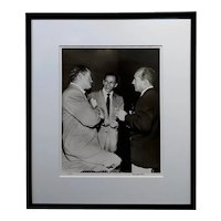 Frank Sinatra Bob Hope & Bing Crosby 1949 signed Photograph by Murray Garrett