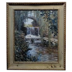 Louis Aston Knight - Waterfall in Greenwich - 1915 Painting