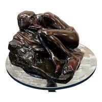 Paul-Albert Bartholomé -Young Nude Girl Crying -Original Bronze Sculpture-c.1900s