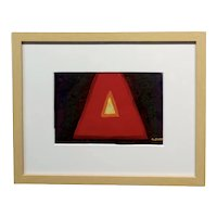 Conrad Buff - Deep Red Triangle -Modernist Oil painting