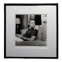 Marlon Brando & his White Cat 1954 signed Photograph by Murray Garrett