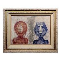 Rufino Tamayo - Dos Caras Two faces -Original Artist Proof 8/10 -Rare