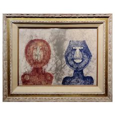 Rufino Tamayo - Dos Caras Two faces -Original Artist Proof 8/10 -Rare
