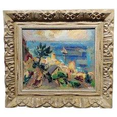 Reva Jackman - South of France coastline -Oil painting