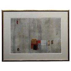 William Dole - Fog at Night - 1963 Mix Media Painting