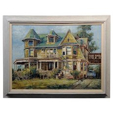 Ben Abril - Old House on Bunker Hill - 1950s Oil painting