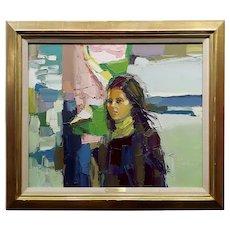 Nicola Simbari - Portrait of a Girl - Oil painting