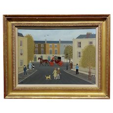 Vincent Haddelsey - London Street Scene - Oil painting