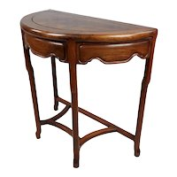 Chinese Demi-Lune carved Rosewood Console Table