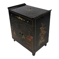 Katherine Henick 1930s Vintage Chinoiserie Hand Painted Cabinet