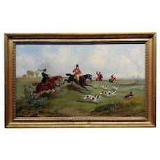 19th century English Fox Hunting -Oil Painting c1820s