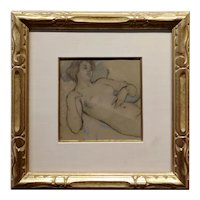 Lawton Silas Parker - Study of a Reclined Nude Female -c1880s Painting