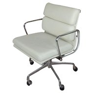 "Herman Miller ""Soft Pad"" Management Chair -Vicenza Leather-Cream"