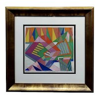 Rolph Scarlett - Study of a Geometric Abstract in Colors -Painting