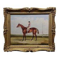 Francis Calcraft Turner -1820s Winner Racehorse & Jockey-Oil painting
