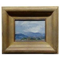 Meredith Brooks Abbott - Storm in Taos - Impressionist Oil painting