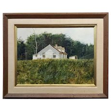 Richard Schlecht - Farm House in Virginia - Oil painting