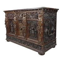 17th Century Heavily Carved Italian Renaissance Buffet Server