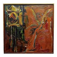 Sabina Ott - Abstracts with Deep Reds - Oil painting