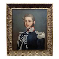 19th century portrait of a French Military Officer -Oil Painting
