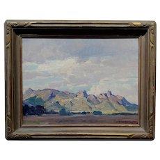 Hanson Puthuff - Plein Air Hills Landscape -Oil panting c.1920s