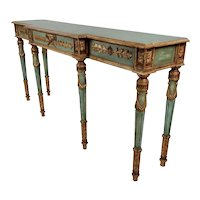 19th century Venetian Green Painted Console table