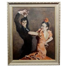 Pal Fried - Spanish Dancers  - Oil Painting