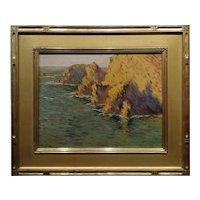 Alson Skinner Clark -Cayucos, Morro Bay California Coastline c.1924-Oil painting