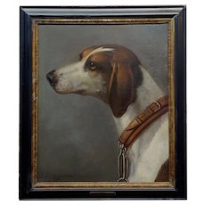 John Wootton - Portrait of a Hound -18th century Oil Painting