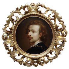 17th century Flemish School Portrait of a Gentleman-Oil painting