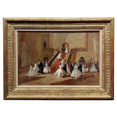 Jean Cosson -Dancers at the Opera -Oil Painting -c1910s