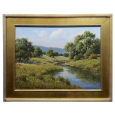 David Chapple -Spring Time in a California Landscape-Oil Painting