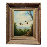 Weber - Two Humming bird in Love -Oil painting