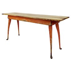 Richard Mulligan Country Farmhouse Pine Console Table distressed Yellow