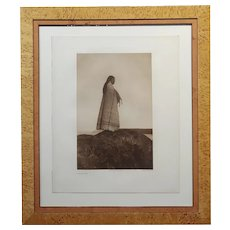 Edward Curtis -North American Indian Cowichan Girl -1912 Photogravure