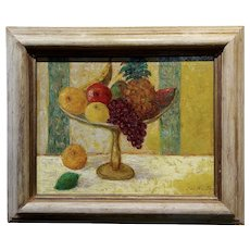 Max Michel Agostini - Still Life Centerpiece of Fruits -Oil painting