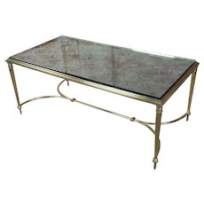 Vintage Regency Brass & Glass top Coffee table
