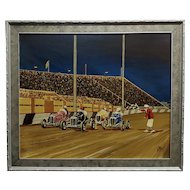 G. Fox - 1930s Car Race - Oil painting on board