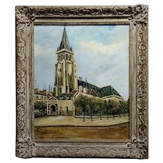 Elise Maclet -Saint-Germain-des-Prés, Paris Oldest Church-Oil painting