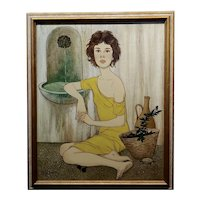 Philippe Noyer - The Girl & the Basket of Figs - Oil Painting