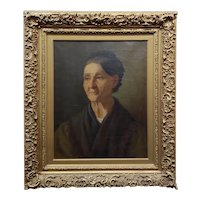 A. Fink - 19th century Portrait of an older Woman - Oil painting