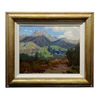 Marion Wachtel -1930s California Foothils Landscape -Impressionist Oil painting