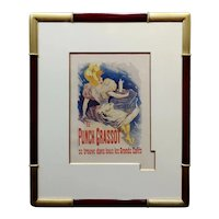 Jules Cheret -Le Punch Grassot - Original 1895 French Liquor Lithograph