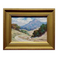 Alice Brown Chittenden - 1920s California Trail Landscape -Oil painting