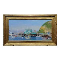 Alex Schaefer -Summer Time at the Catalina Pier -Oil painting