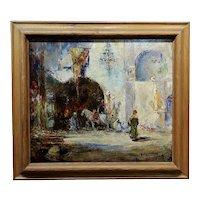 Douglas Arthur Teed -An Orientalist Moorish Courtyard Scene -c.1920 Oil painting
