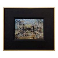 Leonardo M. Nierman -1960 Abstract City Grid -Oil painting