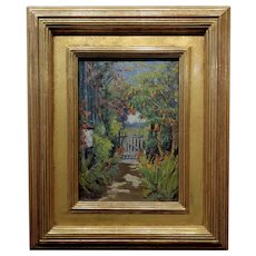 William Constable Adam-The Gate to the Flower Garden-Oil  painting -c1910s