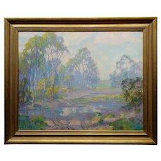 Harry Raymond Henry-Early Morning Near Laguna-Tonalist Oil painting c.1930s
