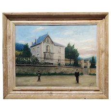 C. Robert -19th century French Chateau -Oil painting